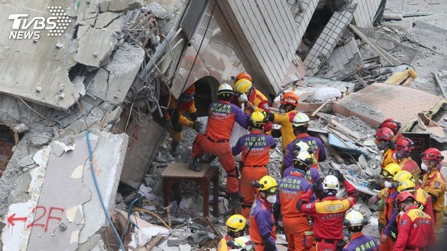 圖/中央社 花蓮地震 建築師公會籲評估斷層週邊建物
