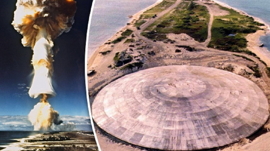 圖/Daily Star 馬紹爾圓頂存輻射物 氣候變遷導致外洩