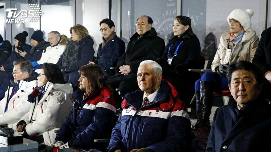 圖/達志影像美聯社 兩韓冬奧牽手 彭斯:美和南韓施壓北韓立場不變