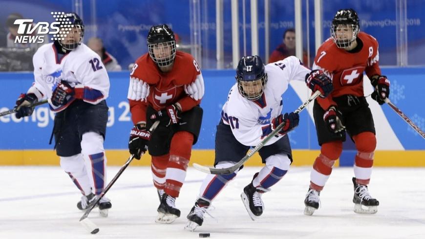 圖/達志影像美聯社 兩韓女子冰球隊再掉漆 0:8慘敗瑞典