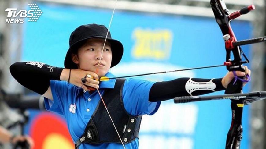 圖/中央社 雅加達射箭測試賽 中華隊奪混雙金牌