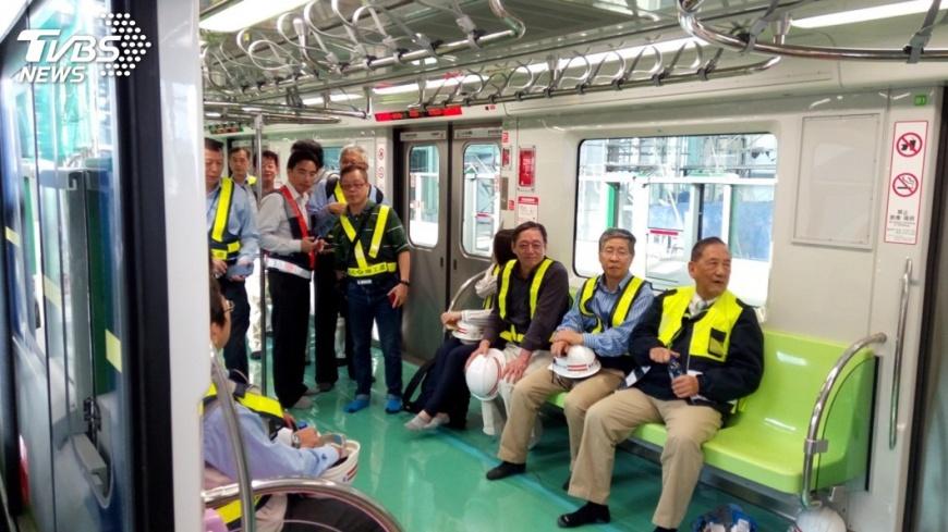 圖/中央社 中捷綠線工程進度75% 預計年底試運轉
