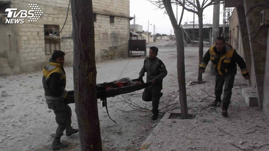 圖/達志影像美聯社 敘軍空襲近200平民死 反對派責斥大屠殺