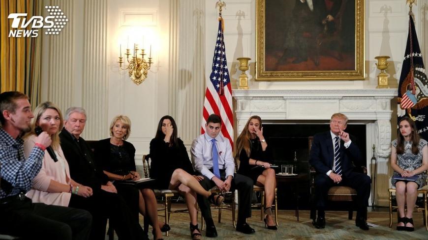 圖/達志影像路透社 佛州槍擊慘案 白宮:川普將接見倖存學生