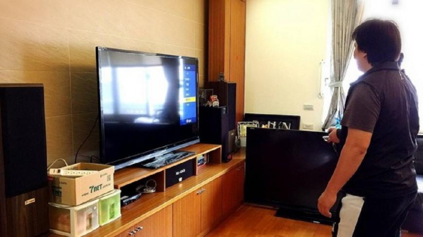 夏普免費為地震受災戶更換全新電視。圖/爆料公社