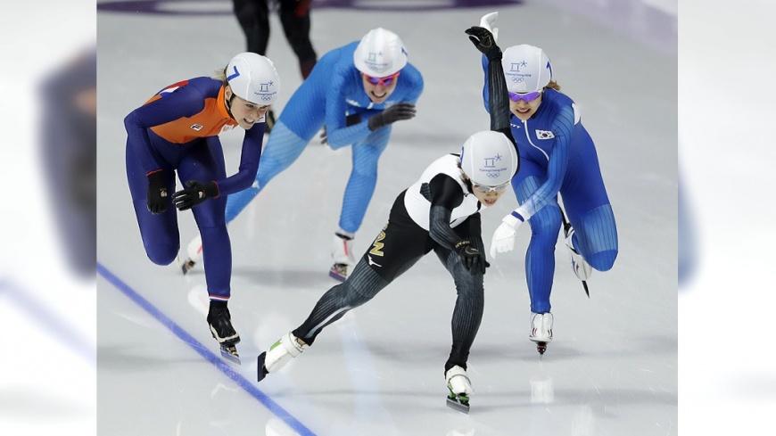 女子競速滑冰示意圖/達志影像美聯社 講好殿後卻甩開隊友 南韓女子滑冰隊內鬨
