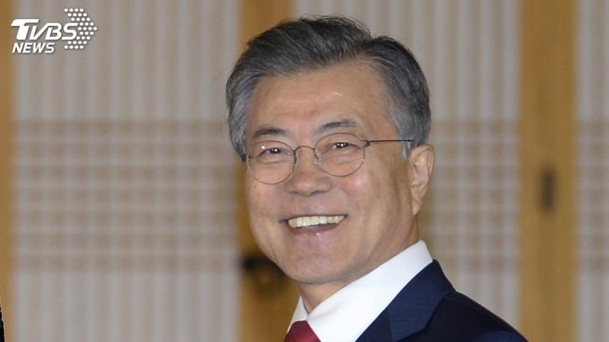 圖/達志影像美聯社 南韓總統文在寅 發表平昌冬奧閉幕感言