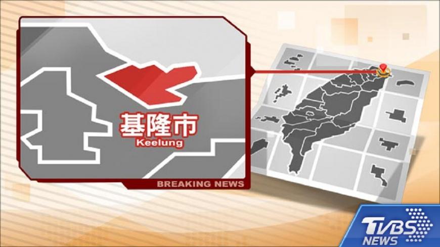 圖/TVBS 快訊/挖破水管水柱噴3樓高 基隆7千戶停水
