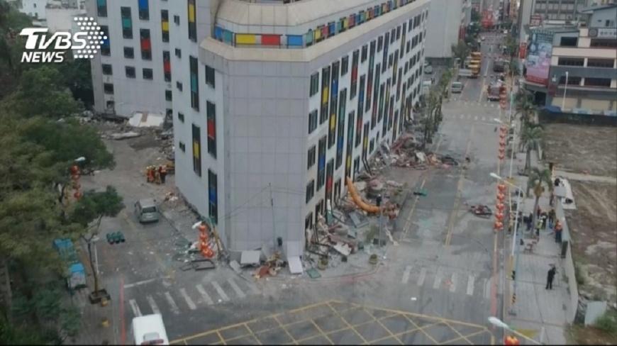 花蓮強震,統帥飯店倒塌