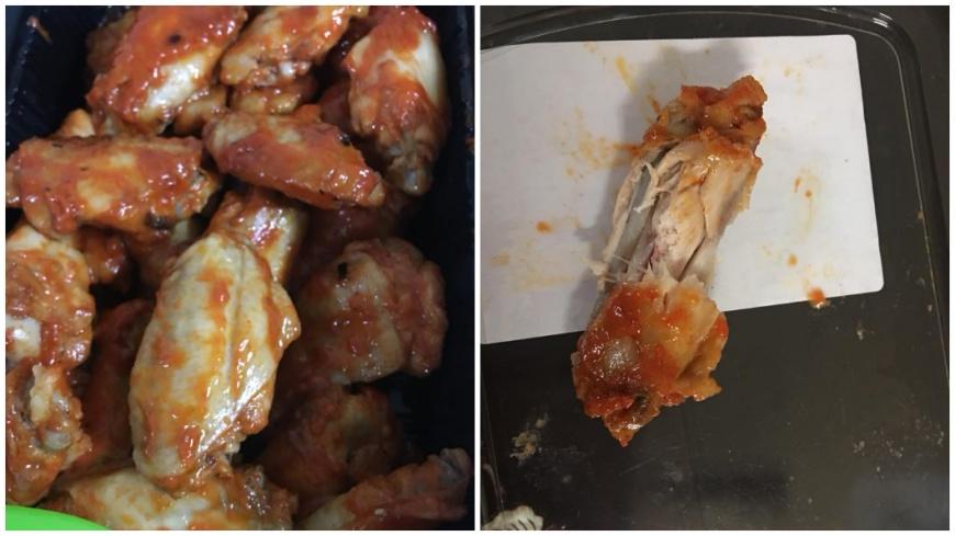 買回來的雞翅竟有一根出現被啃過的痕跡,圖/取自《Costco好市多商品經驗老實說》臉書 奧客偷拆「試吃」?好市多買雞翅 回家發現被啃過