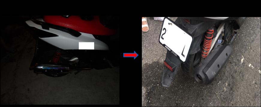 不當改裝產生噪音與到檢改回原廠通過檢測(例) 車輛排氣管查驗認證共同維護環境安寧!!