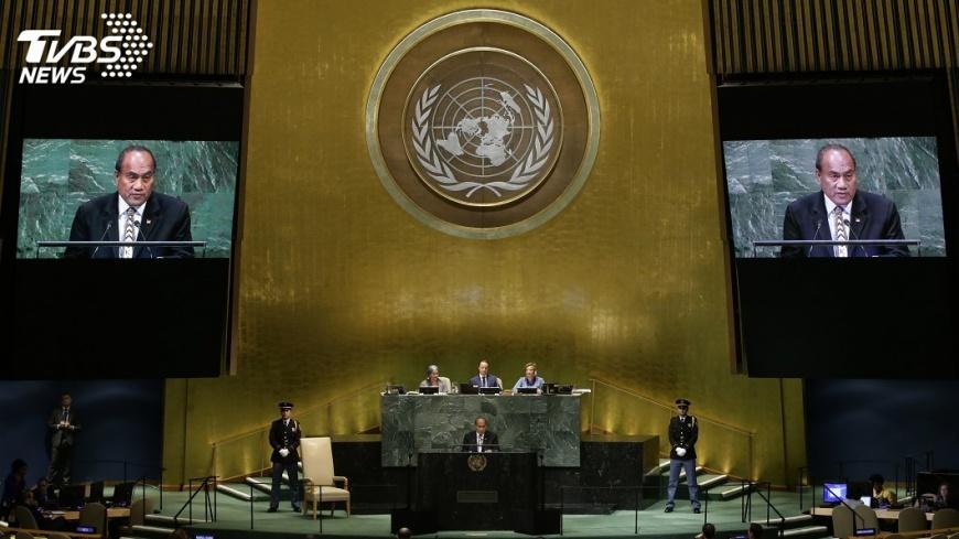 聯合國大會總辯論會場。圖/中央社 聯大總辯論3友邦聲援台灣 巴拉圭7年來首度未提
