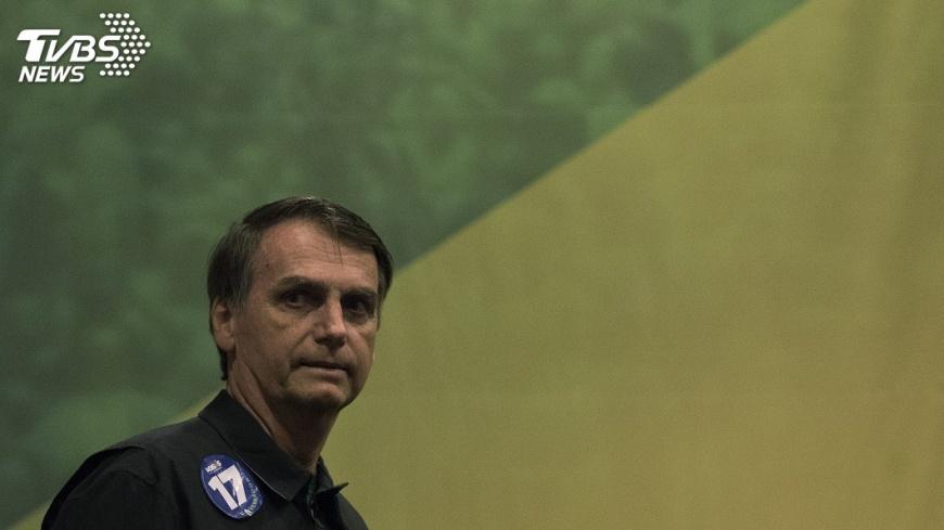 巴西總統波索納洛(Jair Bolsonaro)。圖/TVBS 亞馬遜野火延燒 巴西總統:歐洲不夠格