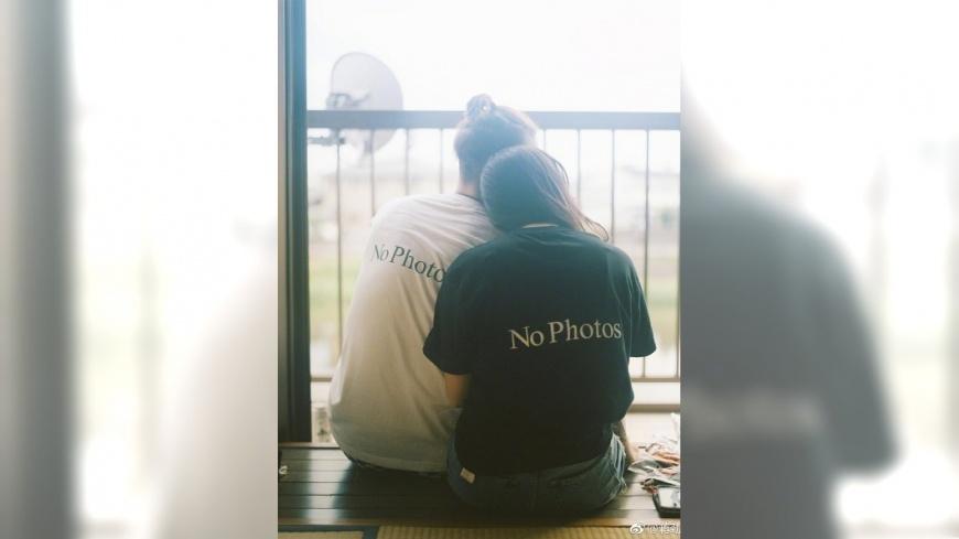 蔣勁夫日前才公開貼出與女友相依偎的合照。圖/翻攝自蔣勁夫微博