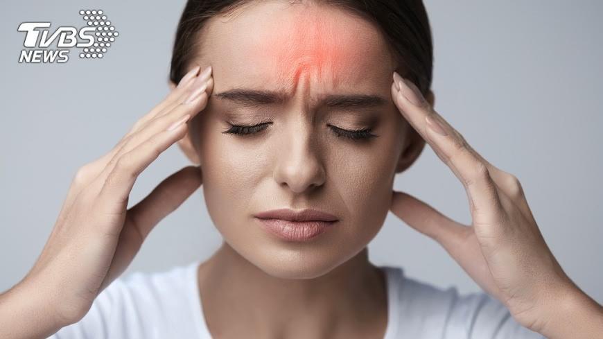 減緩頭痛。示意圖/TVBS