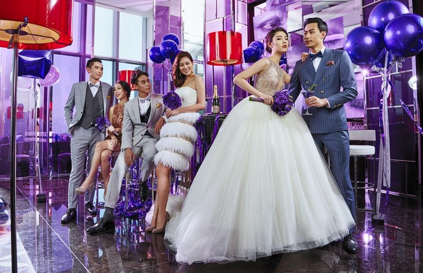 將華麗宴會廳翻轉為時髦婚禮商場