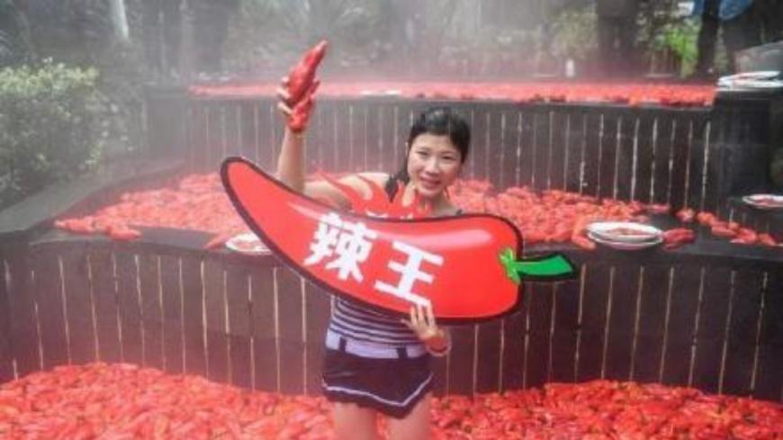 最後由當地江西宜春女子奪得冠軍,並獲「辣王」封號。圖/翻攝自《中國新聞網》