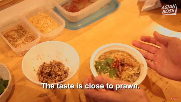 篠原祐太製作的昆蟲拉麵。圖/翻攝自Youtube