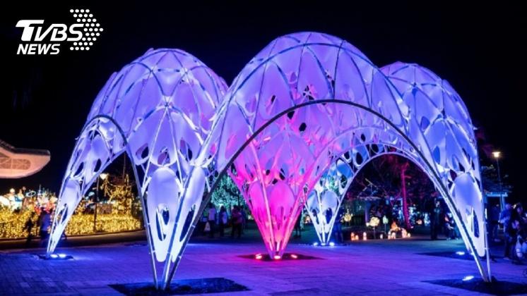 台灣燈會作品之一珊瑚之心。圖/中央社