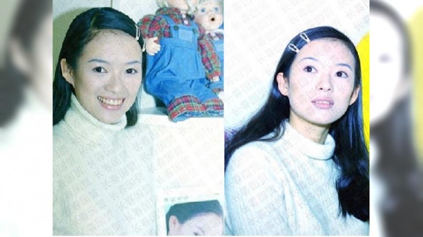 陸媒稱讚年輕時的章子怡「笑容甜美,清純漂亮」。圖/截取自新浪娛樂微博