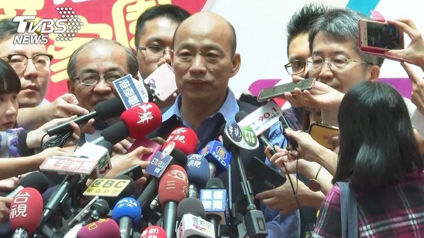 韓國瑜21日受訪時,稱民進黨癒合力如妖怪。圖/TVBS