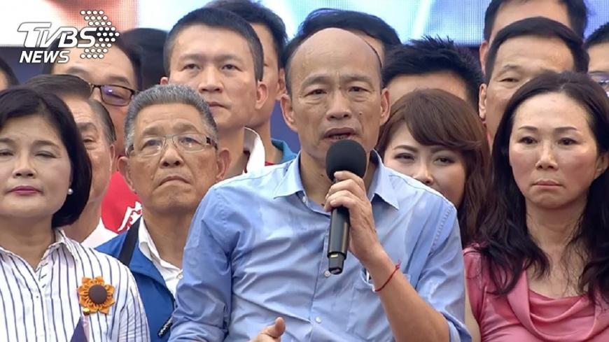 韓國瑜凱道造勢高人氣,展現出韓粉們挺韓決心。圖/TVBS 【觀點】政治人物與粉絲間的愛恨糾葛都跟這三要素有關