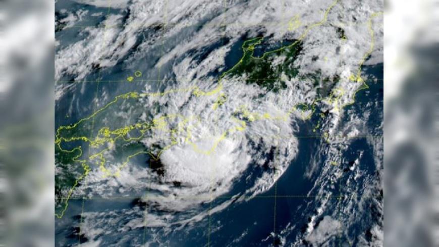 圖/翻攝自 KINSAN 推特 颱風「百合」登陸 日本煙火大會紛取消