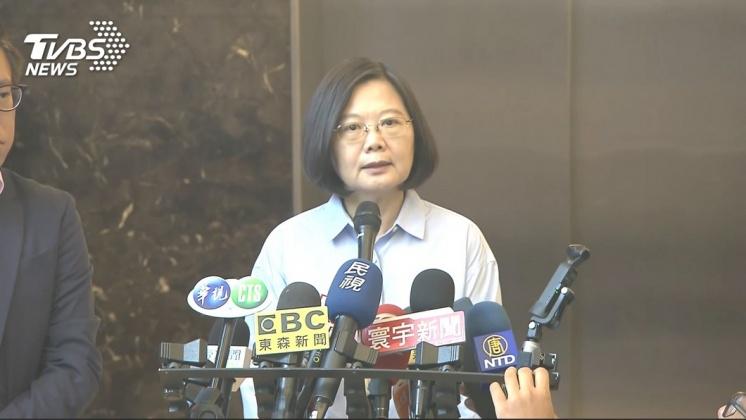 圖/TVBS 學歷論文疑雲 蔡總統:真的事情是假不了的