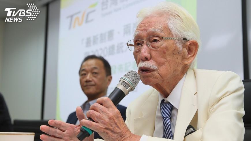 圖/TVBS 郭董參選 辜寬敏:是否與大陸有秘密約束