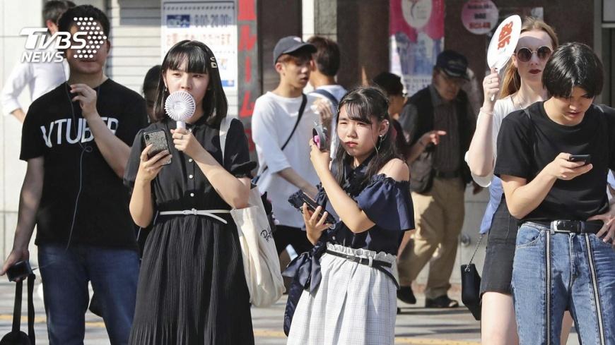 圖/達志影像美聯社 雙颱夾擊反而熱 東京連4天高溫破35度