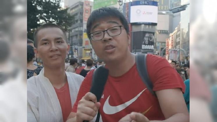 圖/翻攝自 無料案內所 YouTube 「示威者都恐怖份子」 疑陸客當街嗆香港人