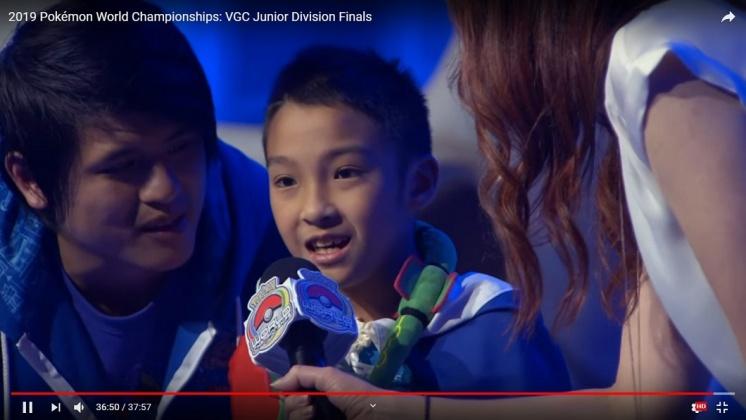 韓國瑜宣布,寶可夢世界大賽冠軍吳比,是高雄10月觀光代言人。圖/TVBS資料照片 寶可夢世界大賽冠軍吳比 高雄10月觀光代言人