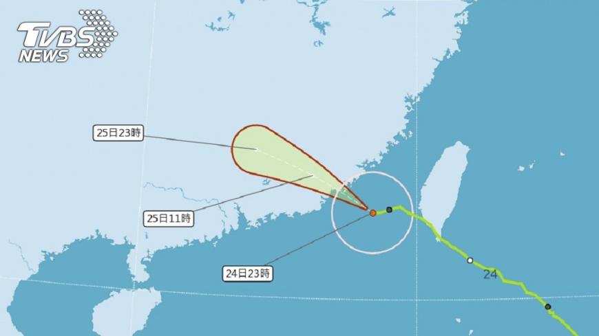 圖/中央氣象局 白鹿遠離大雨跟進 25日停班停課看這裡