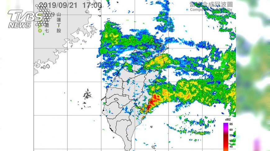 圖/中央氣象局 颱風環流影響 北台今雨彈狂炸明升溫回乾