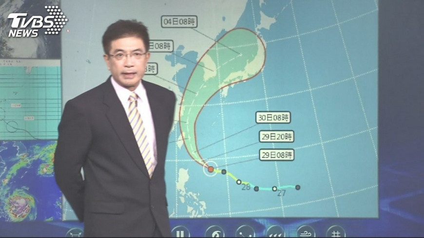 圖/TVBS 米塔增強!東半部.北北基防雨 傍晚恐陸警