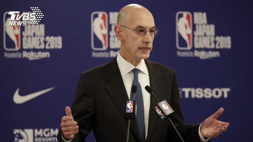 NBA主席Adam Silver對於央視宣布停播賽事,表達遺憾不道歉。圖/中央社,來源AP 不只NBA惹怒中國 國際品牌遭抵制案例多