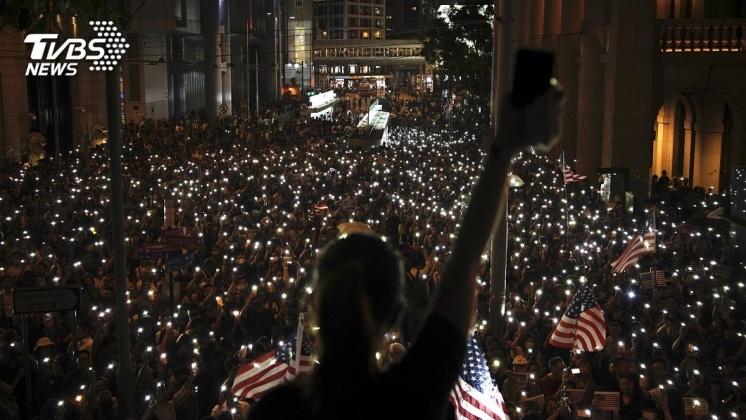 圖/達志影像美聯社 美眾院通過香港人權法案 陸批顛倒黑白