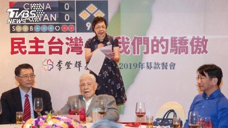 圖/中央社 去年跌倒首露面 李登輝:唯一支持蔡總統