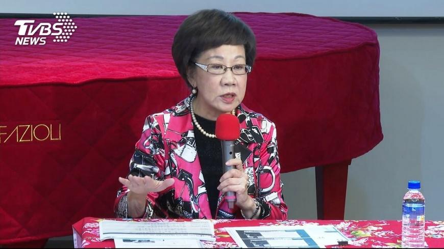 呂秀蓮宣布退選。圖/TVBS資料畫面  呂秀蓮宣布退選! 5點聲明譴責:體認人性之善與惡