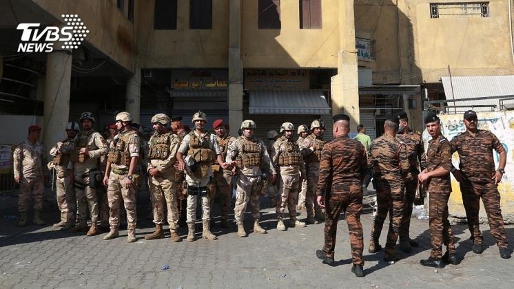 圖/達志影像美聯社 伊拉克反政府示威延燒 安全部隊再用實彈