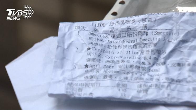 圖/TVBS 診所給錯藥! 1歲兒藥粉現「藥丸」媽怒撕藥單