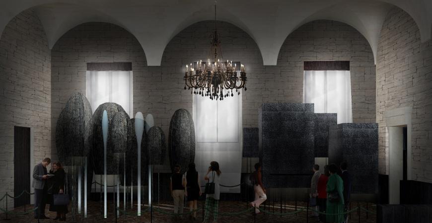 天然修道院、原始知覺研究室模型於普里奇歐尼宮展出之概念模擬圖 2020 年威尼斯建築雙年展臺灣參展作品首度公開