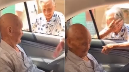 百歲哥離家門 96歲妹哭著追車:我們見一面少一面