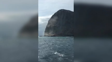 龜山島在崩塌! 賞鯨遊客目睹驚呼連連