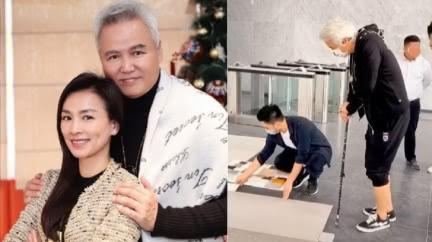 林瑞陽「繳稅88億」操殘腿!買上海整棟樓 拄枴杖監工