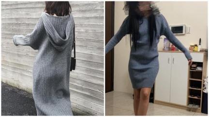 女網購寬鬆長版連身裙 分享「試穿照」怨被騙網反狂讚