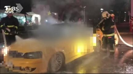 疑3C爆炸釀災!計程車起火 運將燒成焦屍