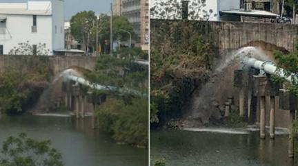 台南爆水管「狂噴7天」! PO網被罵翻秒修好