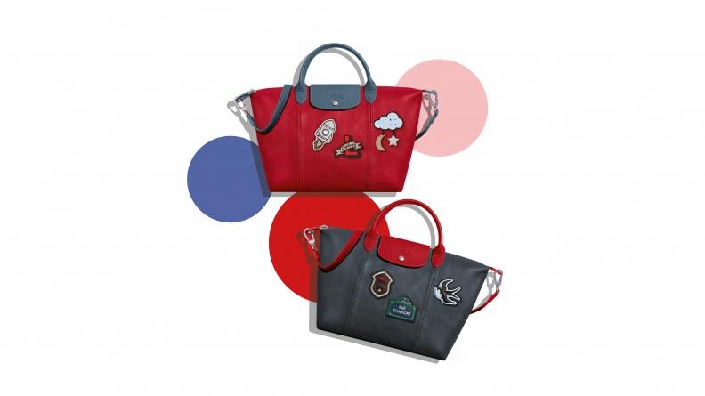 Longchamp Le Pliage® Cuir小羊皮摺疊包徽章客製服務自2017年8月3日起至8月13日止,於全台6家專賣店限時預購.jpg