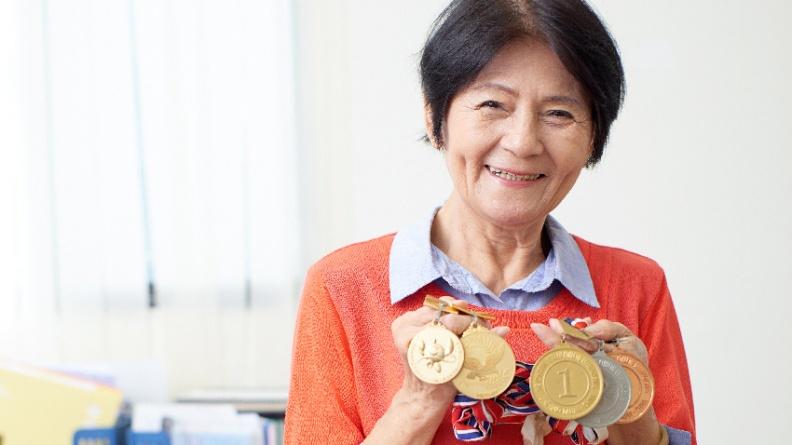 「噴射機阿嬤」潘秀雲 80歲征戰田徑場